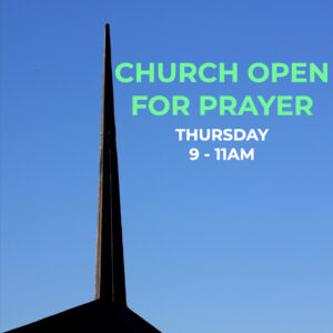 Church Open for Prayer